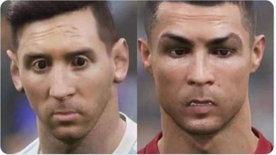Los gráficos de eFootball 2022 indignan a los fans: Messi y CR7 parecen un meme