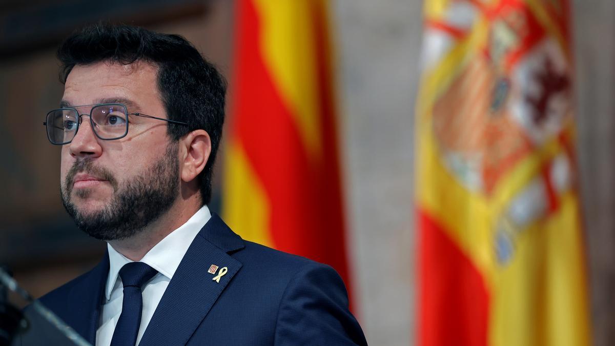 El presidente del Govern, Pere Aragonés.