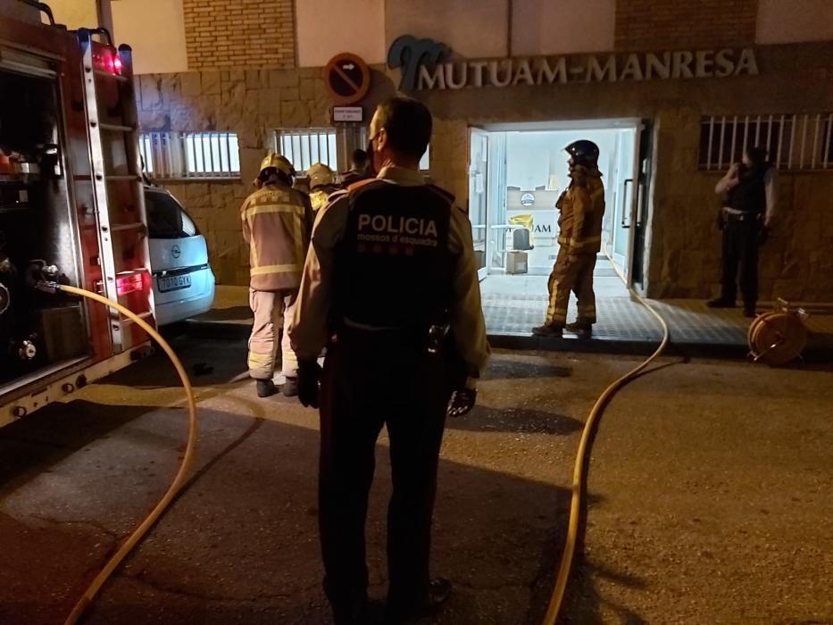 Incendi a la residència Mutuam Manresa