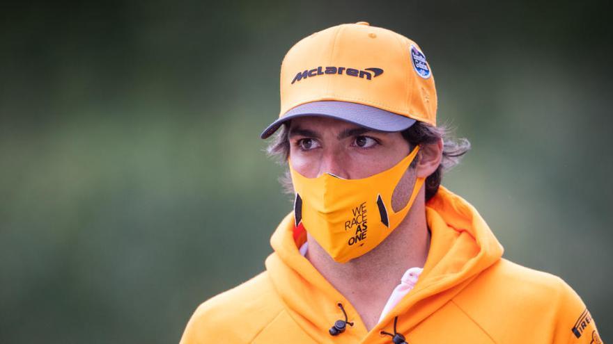 Carlos Sainz, baja en el GP de Bélgica por una avería