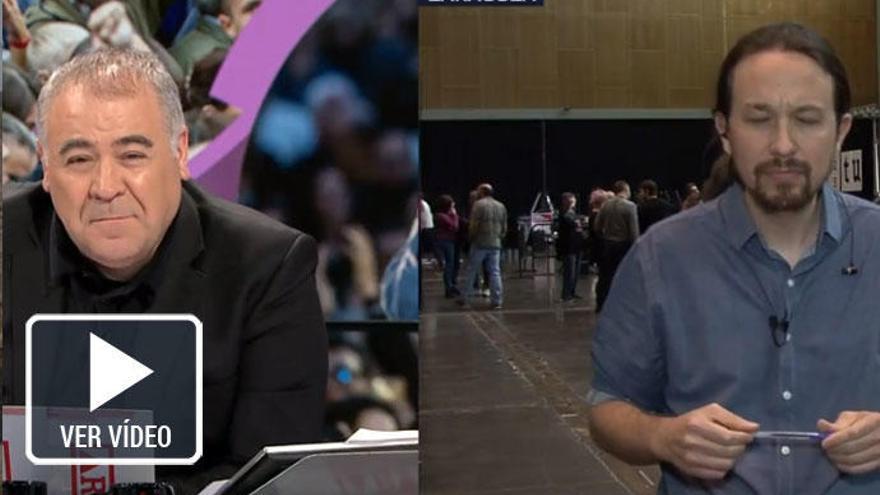 Ferreras y Pablo Iglesias se enzarzan en directo por Eduardo Inda