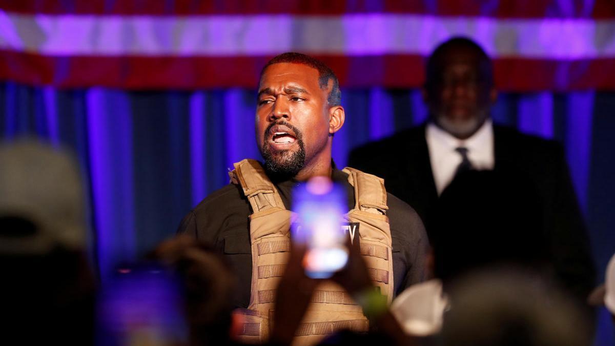Una imagen del rapero Kanye West.
