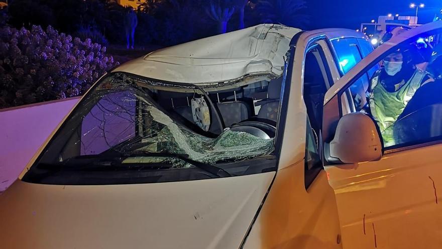 Dos heridos en un accidente de tráfico en Guía