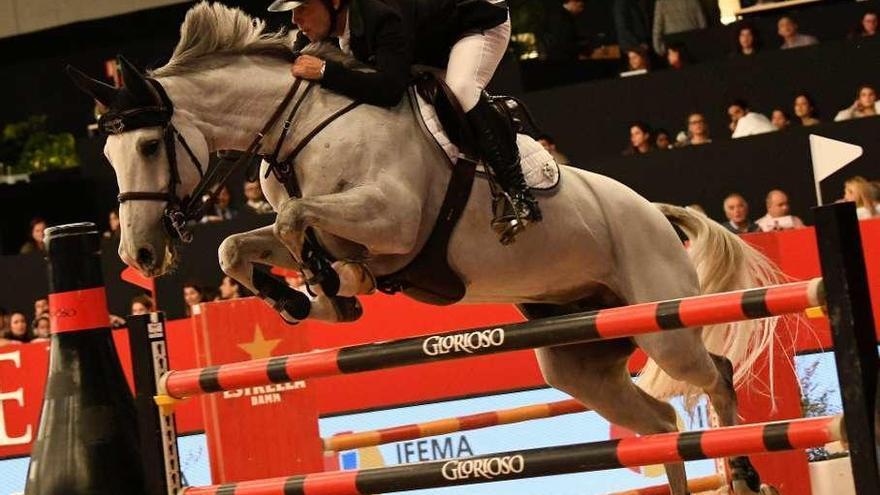 Exhibición de Álvarez Moya en el cierre del Ifema Madrid Horse Week