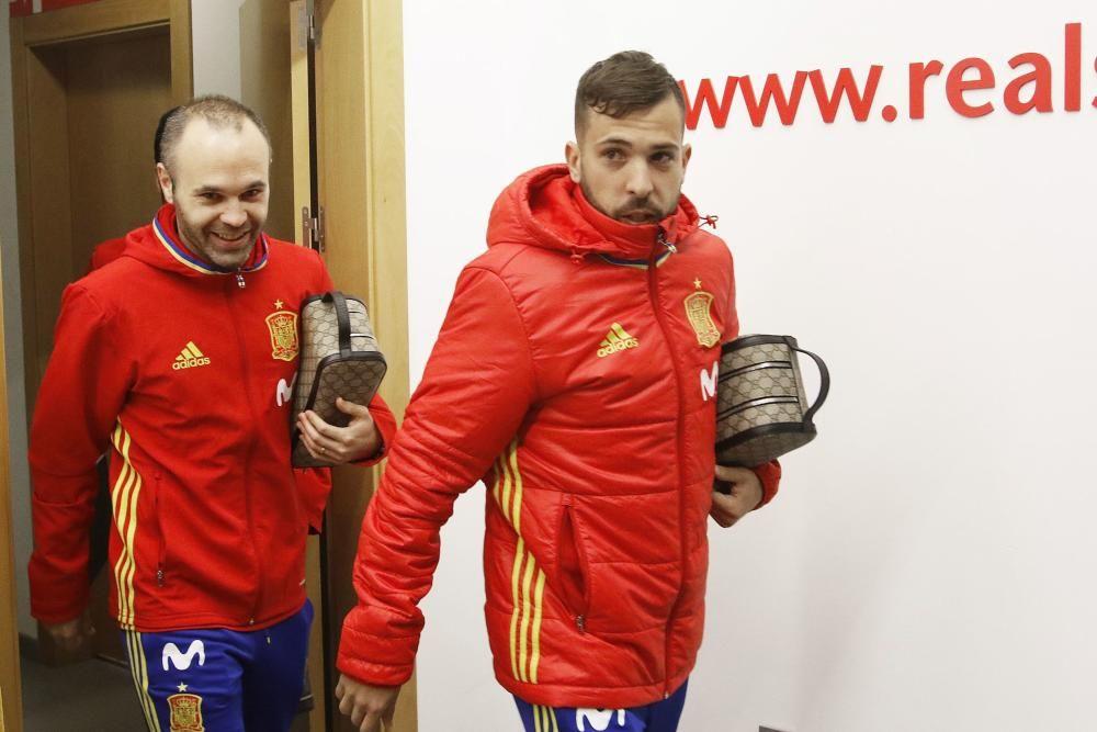 Selección española en El Molinín