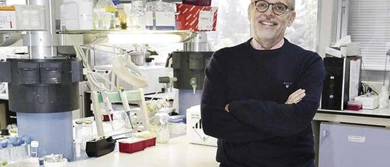 Antonio Figueras, científico del CSIC, en el laboratorio.