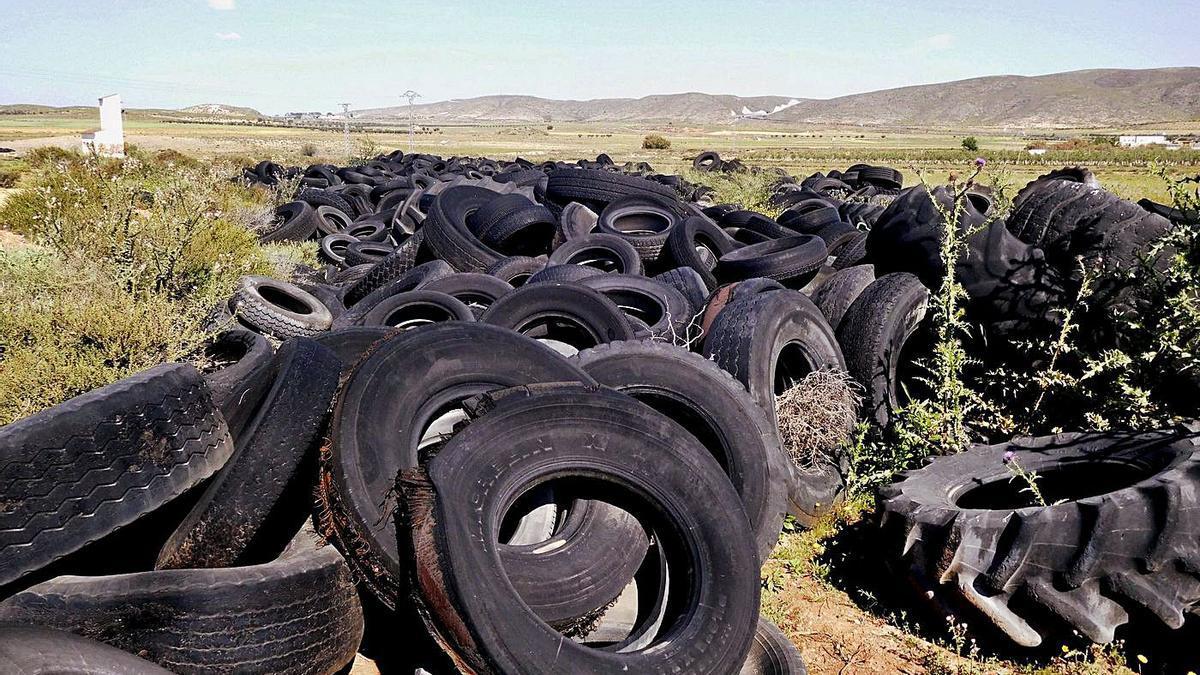 La acumulación de neumáticos es un problema en muchos países desarrollados como España.