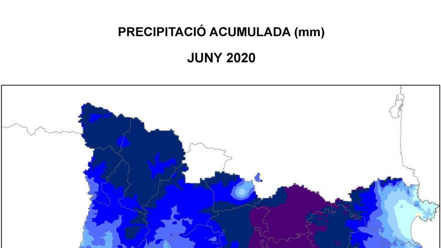 El juny ha estat el més plujós a Catalunya des del 1997