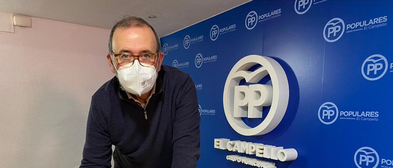 El presidente local del PP, Juanjo Berenguer, en una imagen de archivo por otra recogida de firma