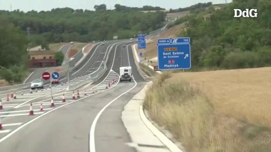 Foment inaugura el tram desdoblat de 3,3 quilòmetres de l'N-II a Vilademuls deu anys després