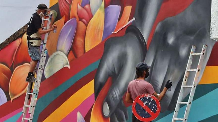 Las alfombras del Corpus, motivo del cuarto mural del proyecto al aire libre