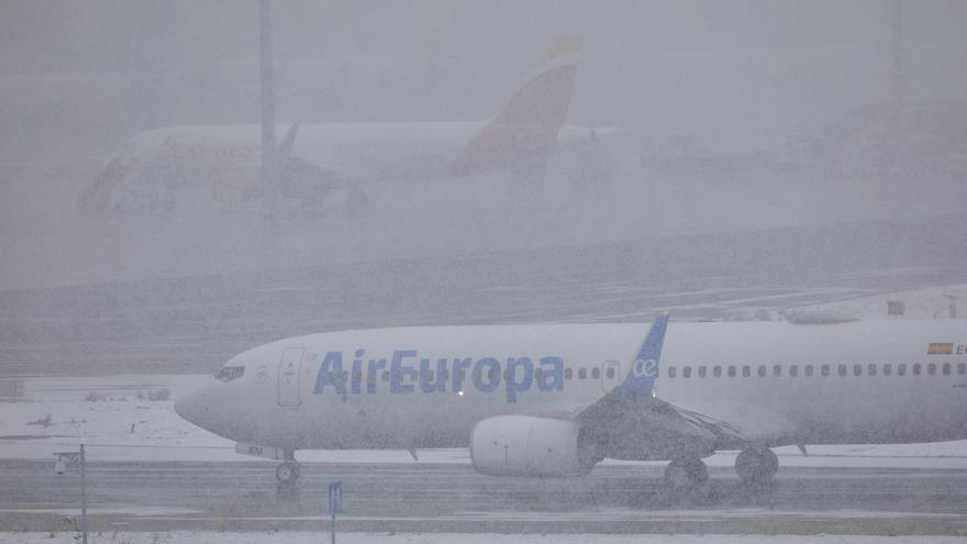 Ocho vuelos cancelados entre Baleares y Madrid este lunes por la borrasca Filomena