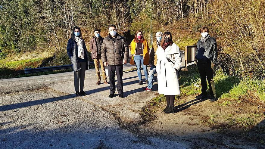 La carretera de Abelendo estará en reformas a partir de verano e incluirá una plaza pública