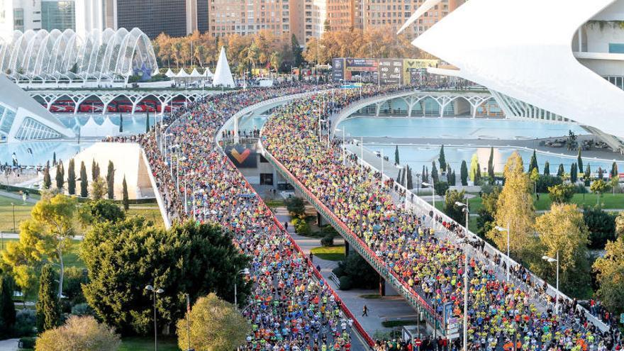 Calles cortadas en el Maratón de València 2019