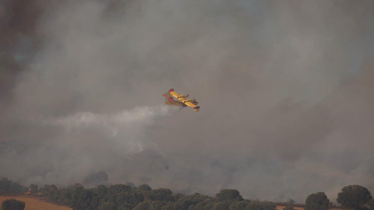 Extinción de un incendio en la provincia en temporadas pasadas