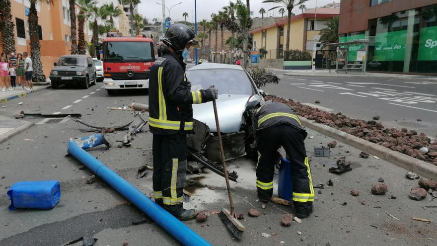 Aparatoso accidente en El Rincón