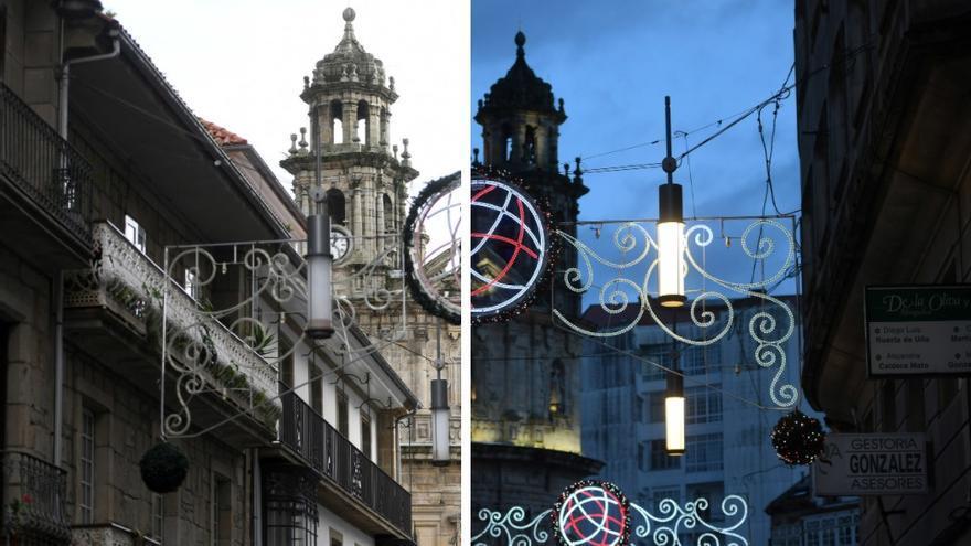 Así se enciende Pontevedra por Navidad