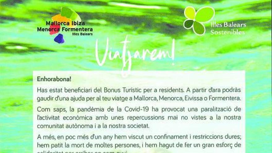 Negueruela se reivindica por carta ante los beneficiarios del bono turístico