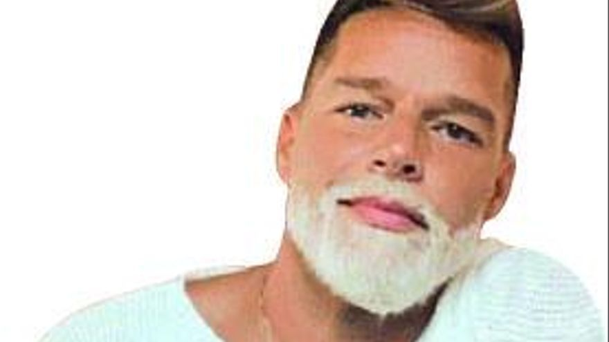 Ricky Martin, con la barba platina