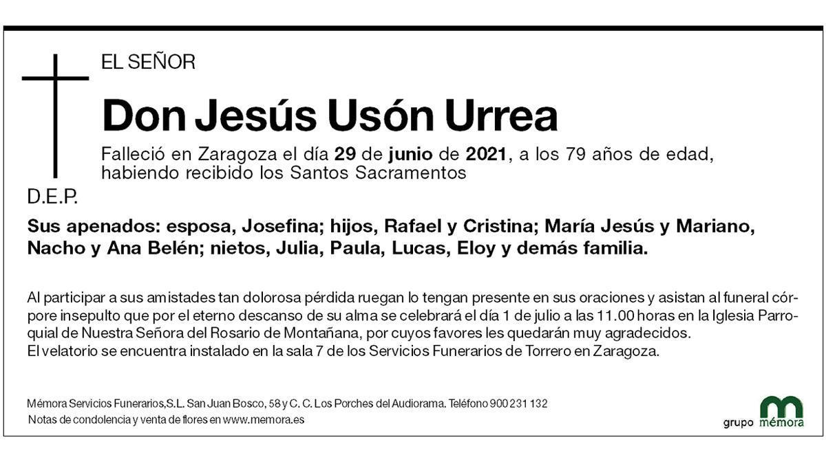 Don Jesús Usón Urrea
