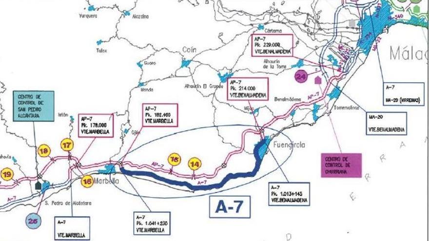El Gobierno licita las obras de rehabilitación del firme de la autovía A-7 entre Fuengirola y Marbella