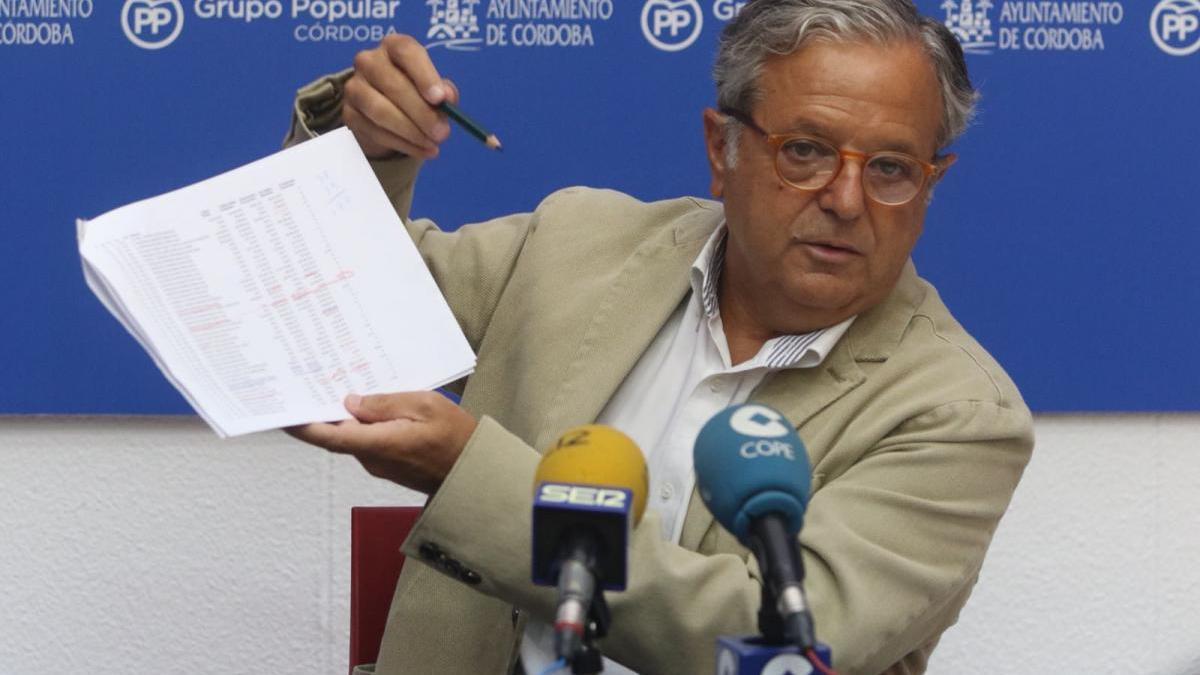"""El PP critica la baja ejecución presupuestaria y denuncia """"la parálisis"""" de Córdoba"""