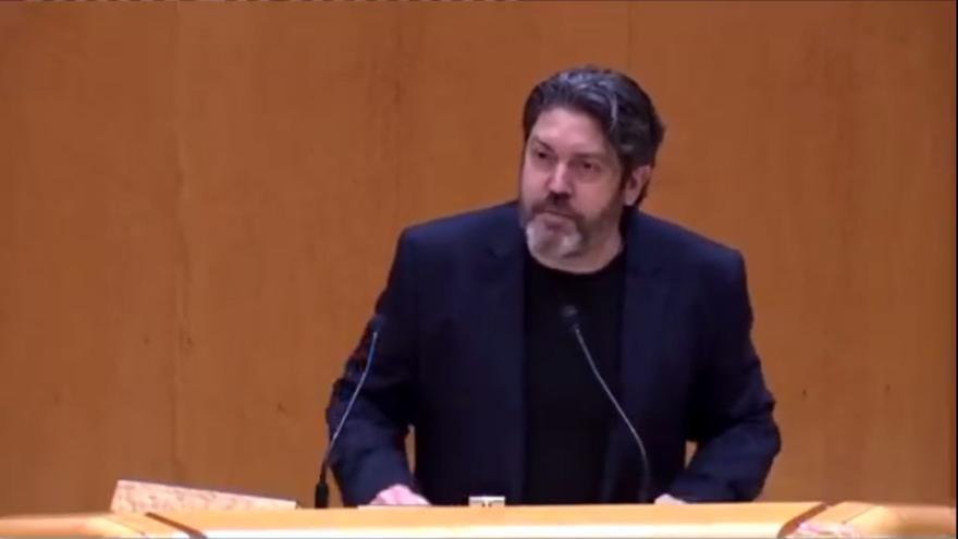 """Miguel Sánchez en el Senado: """"Hoy la Región de Murcia es, políticamente hablando, 'transfugolandia'"""""""