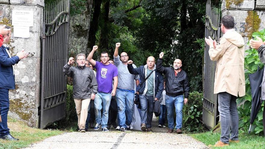 Los Franco piden cárcel para militantes del BNG por la ocupación simbólica del pazo