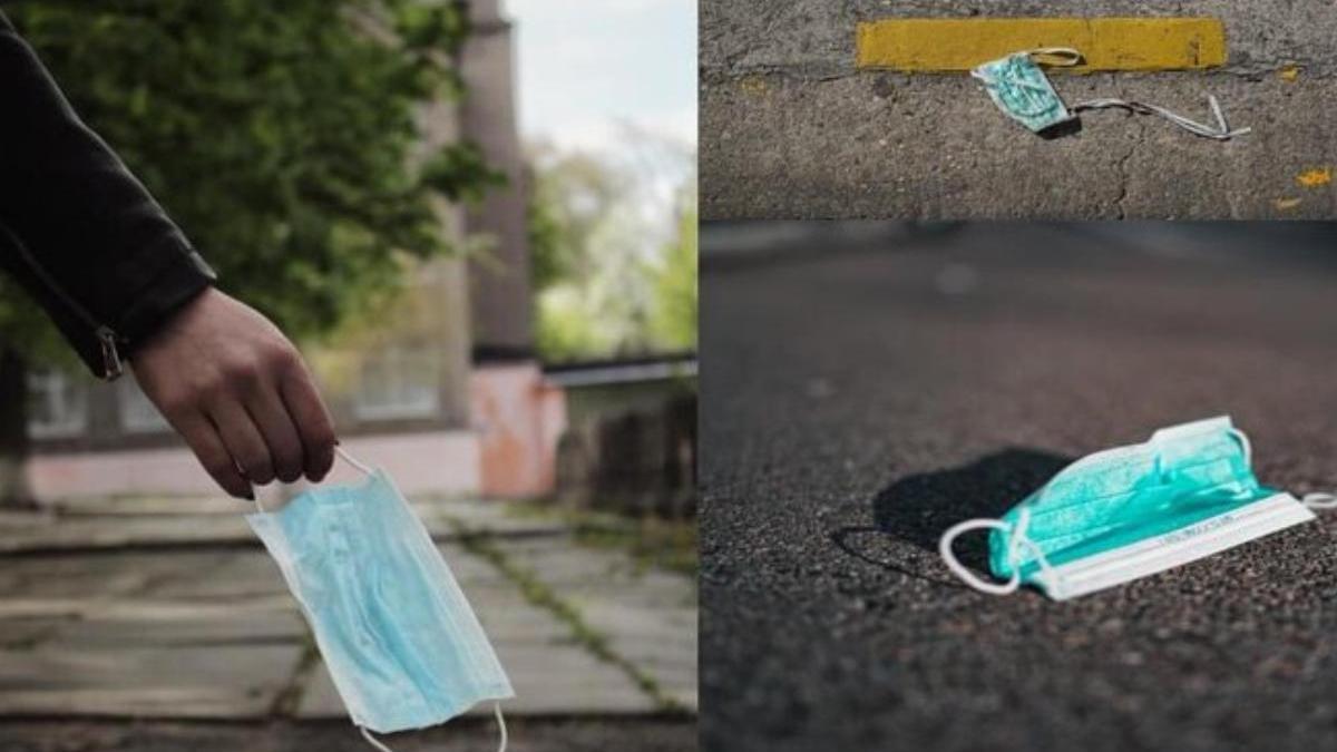 Multas de hasta 500 euros por tirar mascarillas al suelo en las calles de Roma