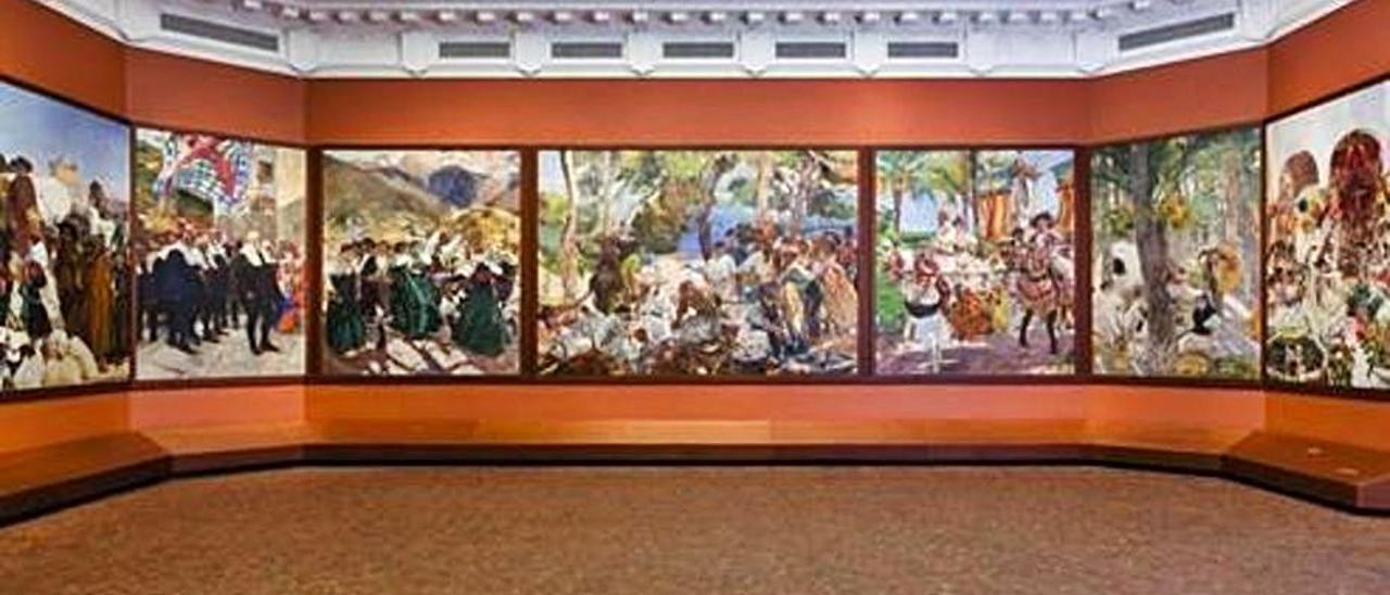 """""""Paisaje asturiano"""" (1904), del Brooklyn Museum de Nueva York."""