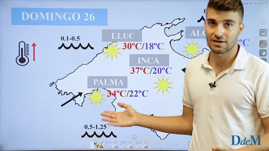 El tiempo del fin de semana en Mallorca: Temperaturas muy altas a partir del domingo