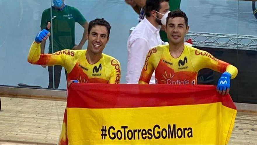 Albert Torres y Sebastián Mora, oro en Madison en el Europeo