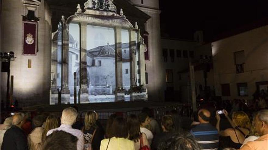 Proyección con fotos y música en la basílica de Sant Pasqual