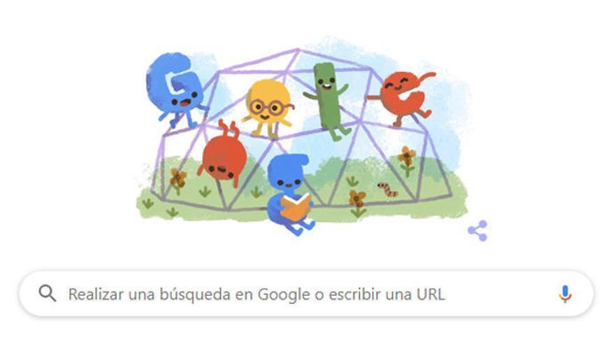 Homenaje de Google al Día del Niño.