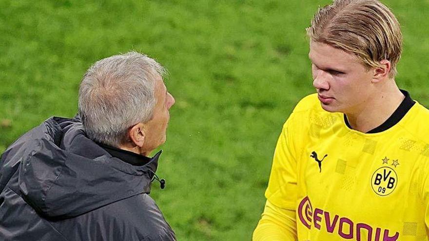 Raiola pelea con el Dortmund por el futuro de Haaland