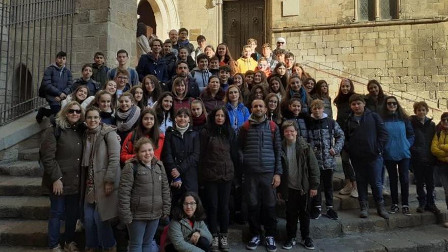 L'escola Diocesana de Navàs ha rebut els alumnes d'Erasmus