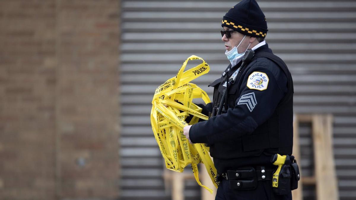 Un agente de la Policía de Chicago.