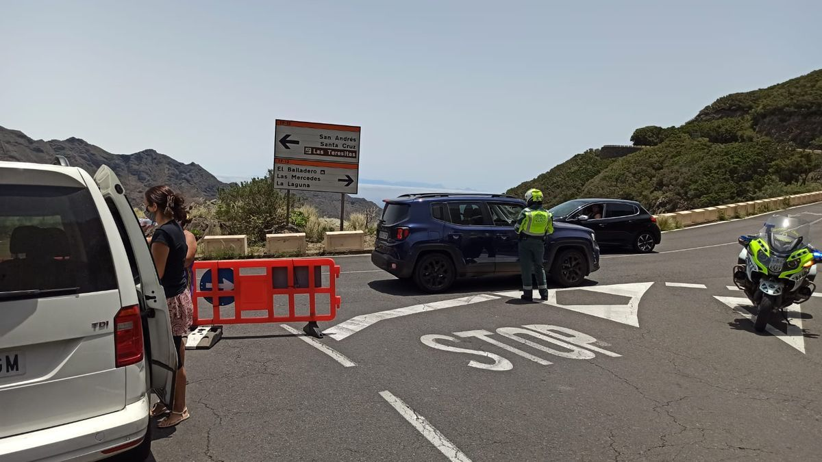 El acceso a las playas de Anaga estuvo en vigor dos horas y media.