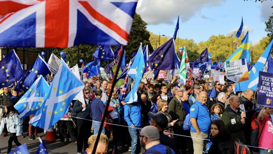 Manifestación en Londres por un segundo referéndum.