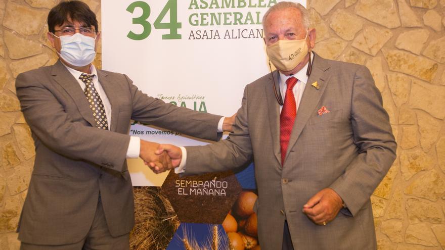 Eladio Aniorte se despide de la presidencia de ASAJA Alicante