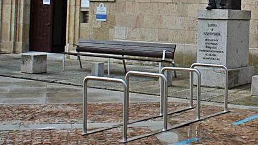 Zamora capital cuenta con 120 nuevos aparcamientos para bicicletas