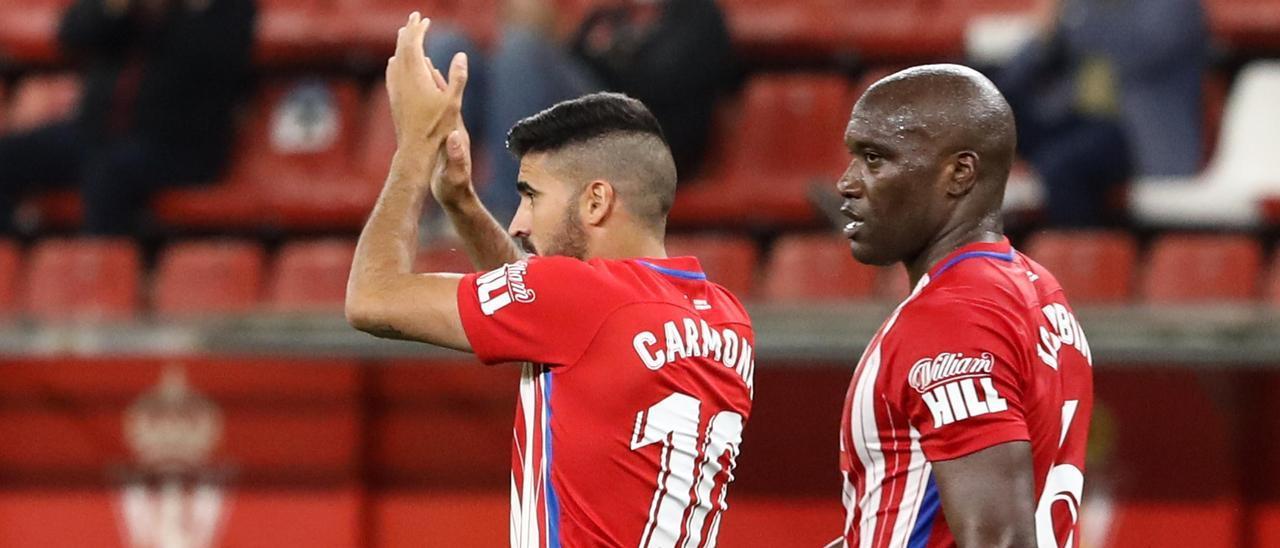Carmona y Babin, tras el encuentro del domingo