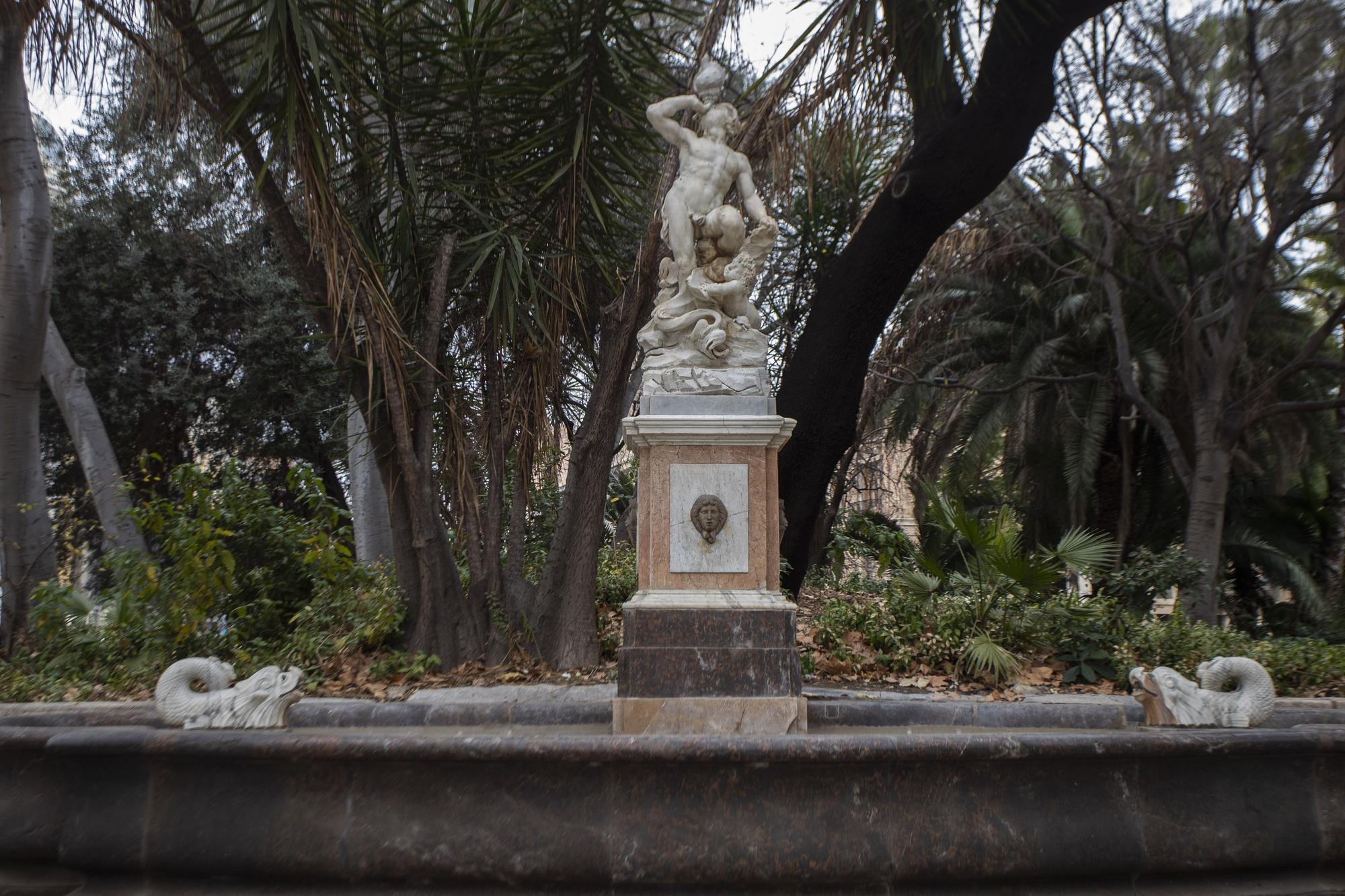 Culmina la restauración de la Fuente del Tritón
