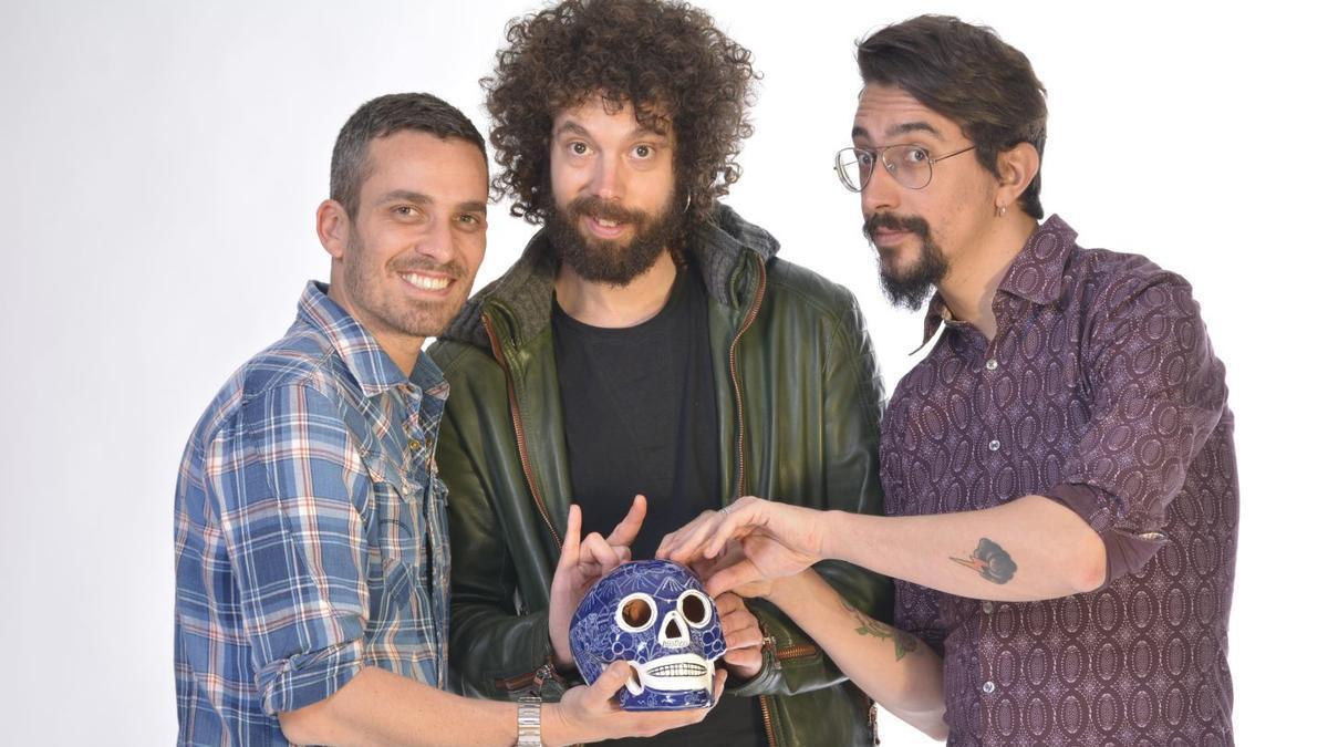 Los colaboradores de 'El hormiguero' en su espectáculo 'Tres calaveras huecas'.