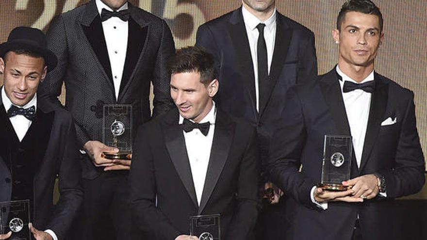 Ronaldo, Messi y Neymar, nominados al 'The Best'