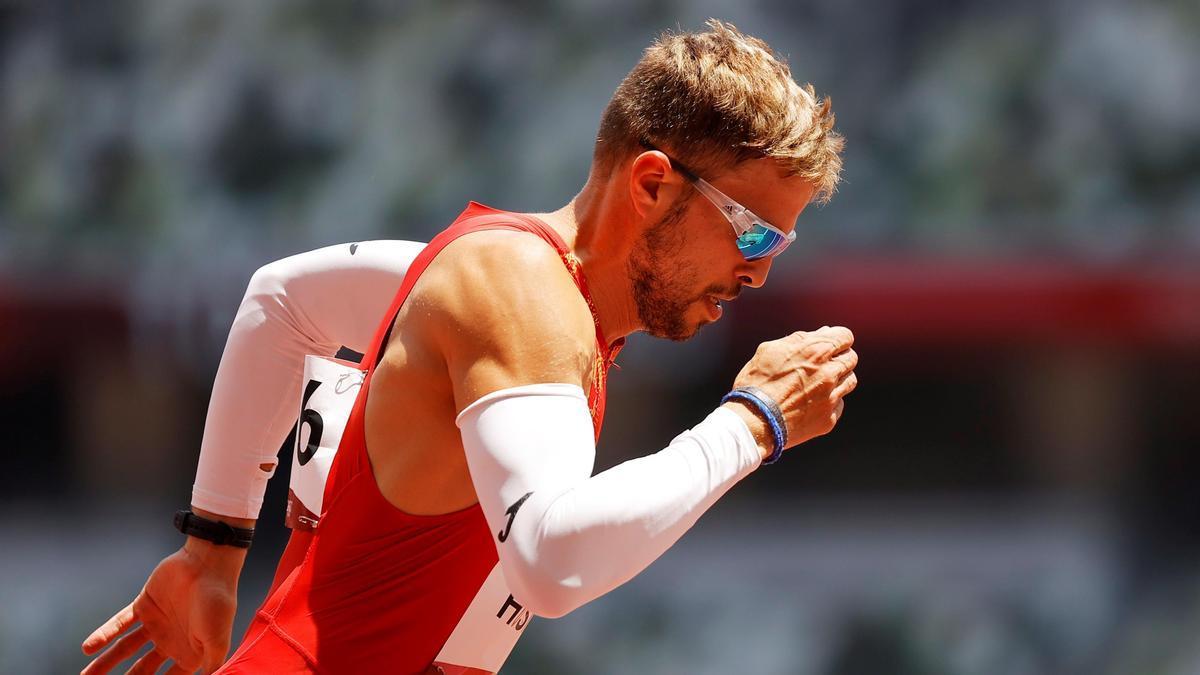 El atleta palentino Óscar Husillos.