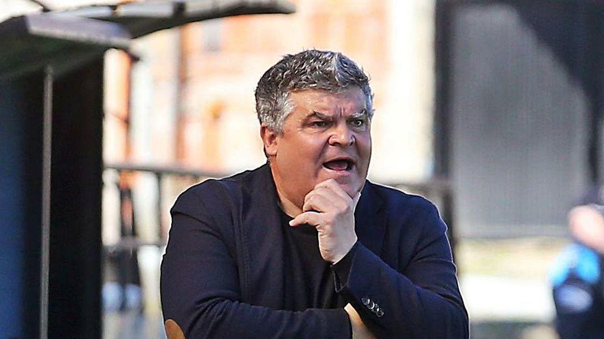 Onésimo Sánchez, durante un partido del Celta B.
