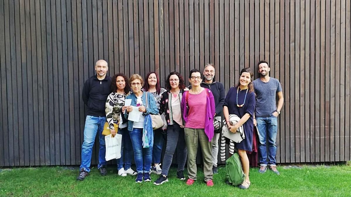 Visita de varios miembros de la asociación GAME a la Fundación Cerezales Antonino y Cinia.