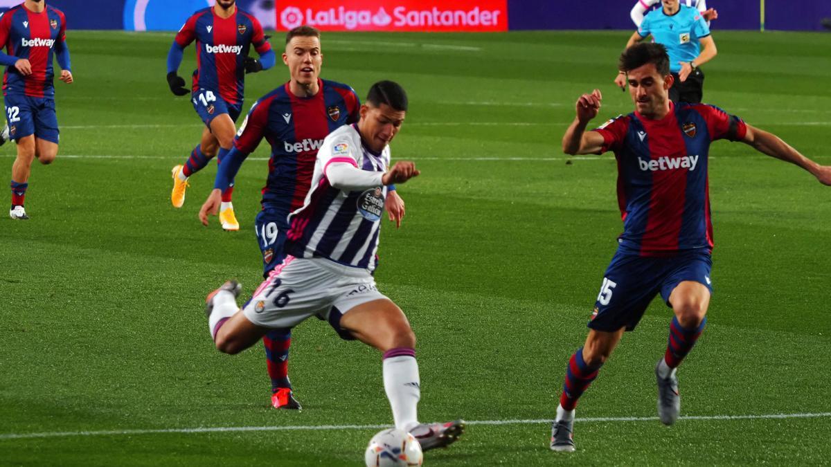 Marcos André, en un partido con el Valladolid la pasada temporada.