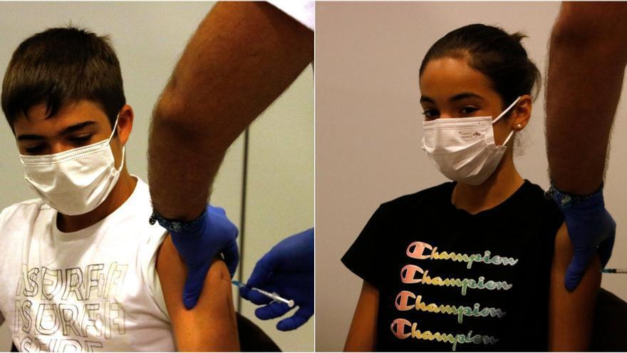 """El Palau Firal comença a vacunar els joves de 12 a 15 anys: """"Estic content que per fi m'hagi començat a immunitzar"""""""